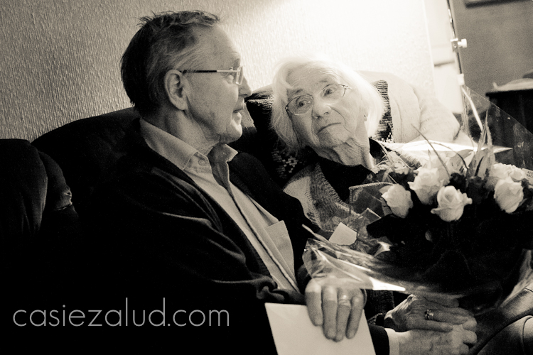portrait of a couple who has been married for 60 years
