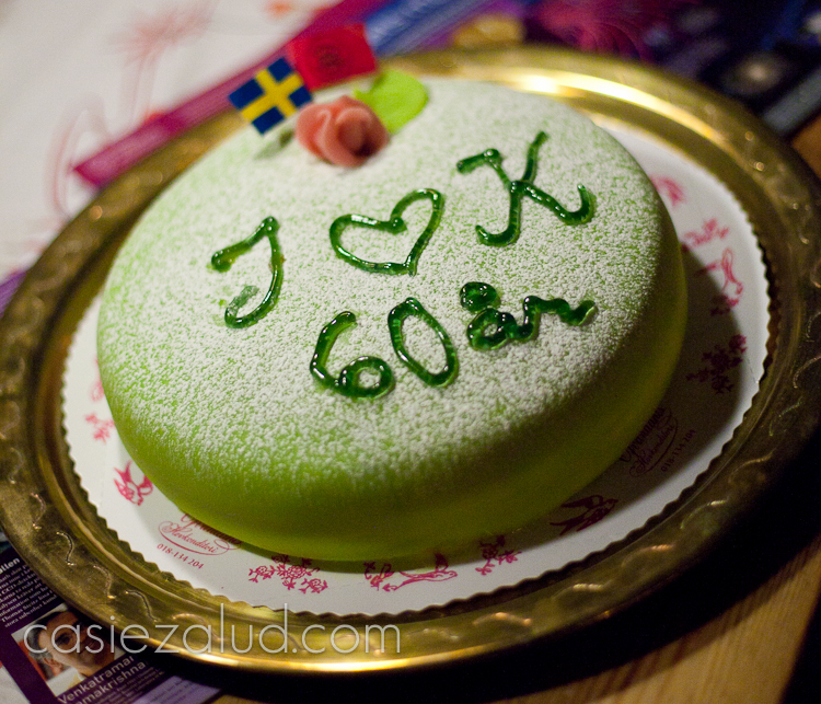 Princesstårta 60th Weddding Anniversary cake