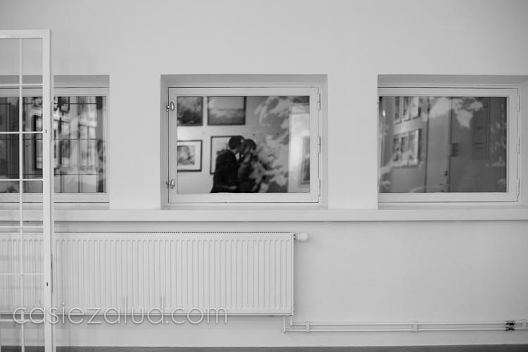 self portrait with my husband at Fotografiska