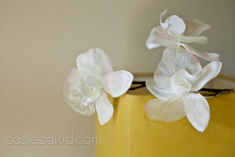 wedding orchids to be used in the bride's hair