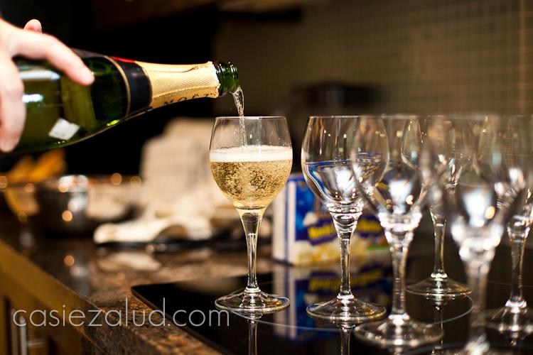 prewedding champagne