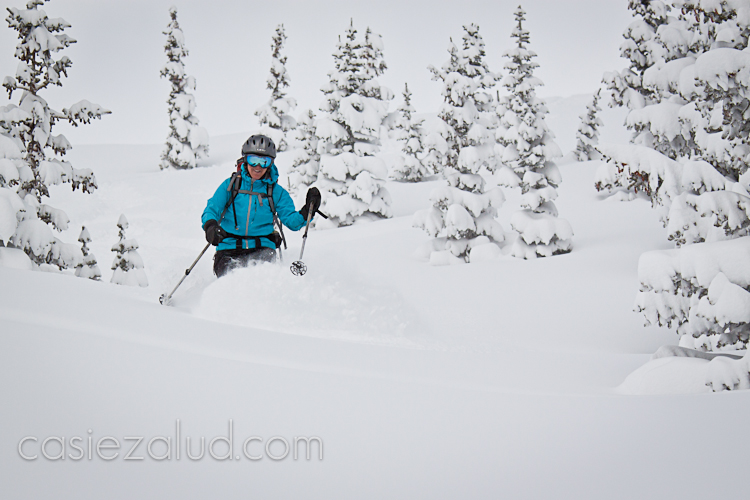wedding photographer skiing in CO backcountry