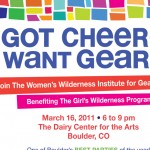 Events: 2011 Women's Wilderness Gear & Cheer