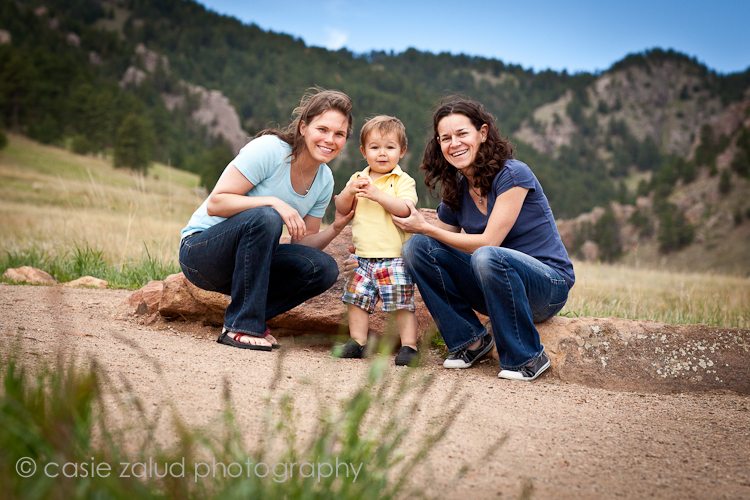 Boulder, CO Family Portraits Chautauqua Park - Casie Zalud Photography