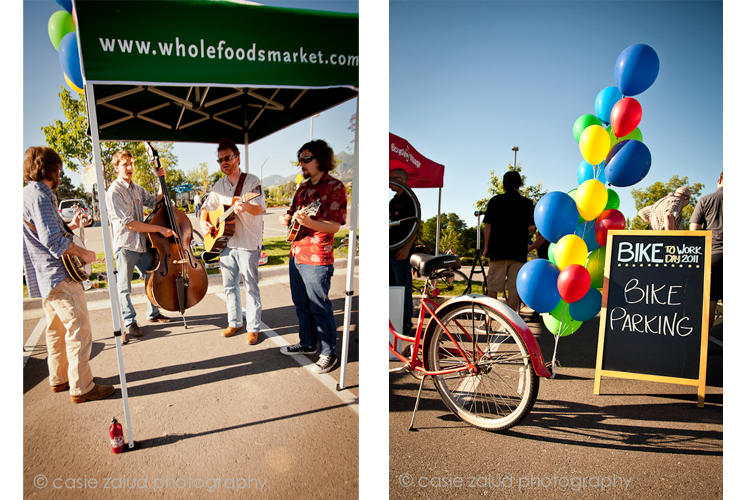 Boulder Event Photography - Bike to Work Day 2011 - Spring Creek Bluegrass Band
