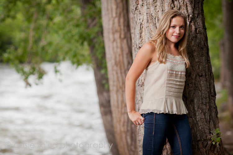 Boulder Senior Porrait Photography - Boulder Creek - Casie Zalud Photography