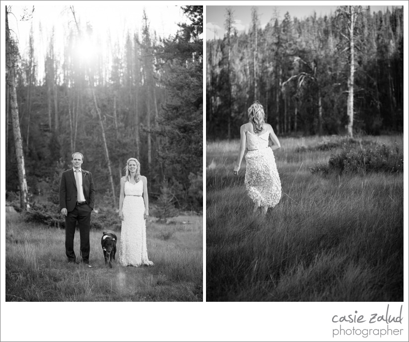 Colorado Outdoor Wedding Portraits - Casie Zalud Photographer