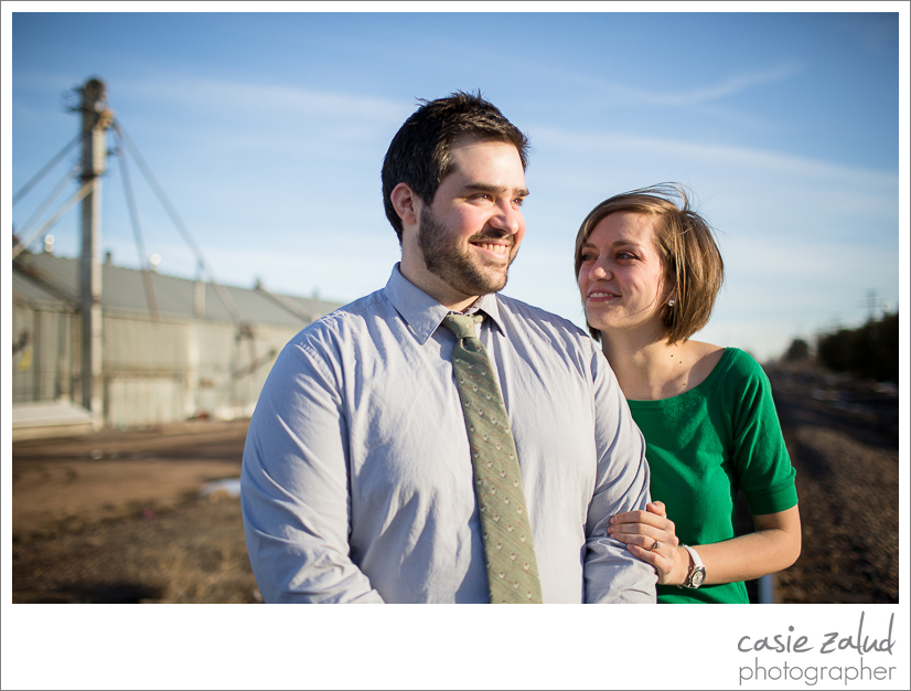 Engaged couple portraits at an old grain mill