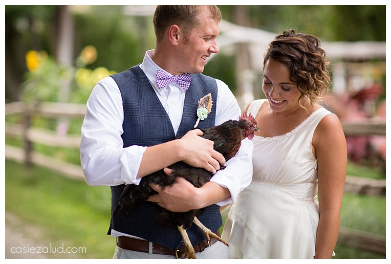 Bohemian farm wedding couple - The lyons Farmette