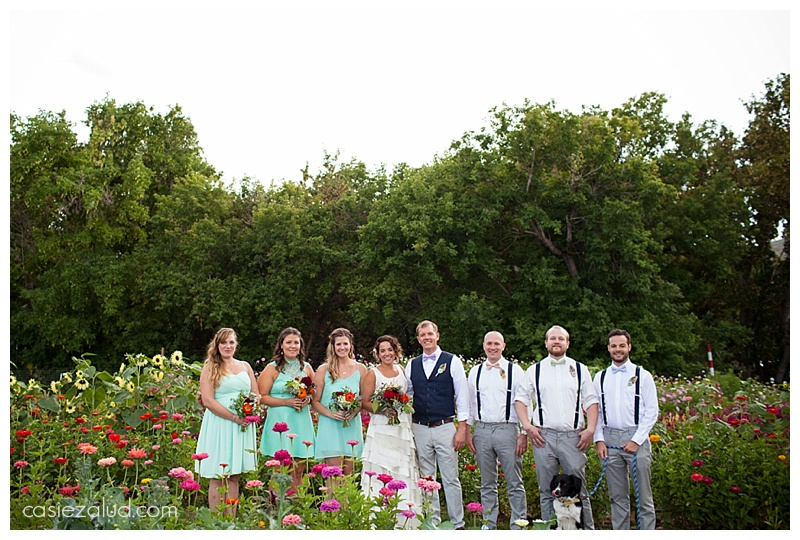 Bohemian Wedding party - The Lyons Farmette